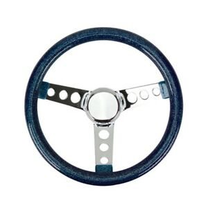 Speedway 11 1 2 Inch Green Metalflake Style Steering Wheel 3 1 2