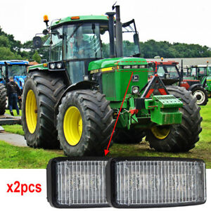 Re306510 20w Led Headlights W Emc For John Deere 4040 4050 4055 4450 4560 X2pcs