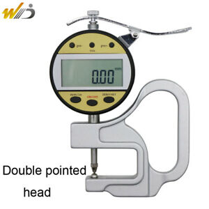 Digital Thickness Gauge 0 10 Mm 0 01 Mm With Double Pointed Head Measuring Tool