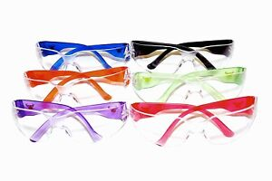 Stylish Safety Goggles Glasses Uv Protection Clear Protective Eyeware 12 Pair