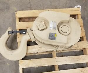 Gunnebo Johnson 2 Sheave Crane Block W Bearings 35 Ton Wll 3 4 Wire Rope