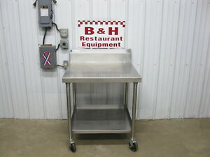 32 X 30 Stainless Steel Heavy Duty Work Table W Under Shelf 2 8