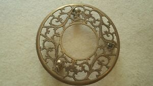 Brass Decorative Rolling Plant Stand 11 Inches In Diameter