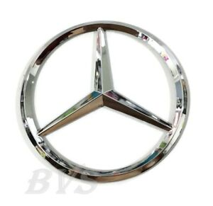 New For Mercedes Benz Chrome Star Trunk Emblem Badge 75mm Sticker