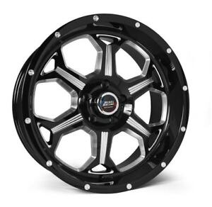 Rebel Racing Offroad Fortress 20x9 0 6x139 7 Black Machined set Of 4