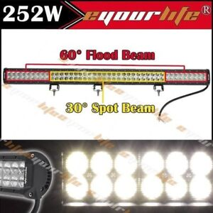 39 Inch 252w Cree Led Light Bar Fog Driving Bumper Grill Roof Tail Off Road 40