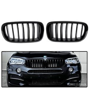For Bmw X5 F15 2014 2016 Front Hood Kidney Grille Grill Left Right Black