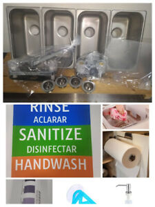 Drop In Standard Concession Stand 3 4 Compartment Sink Free Gifts 1 Hand Wash