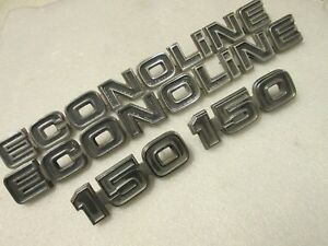 75 82 Ford Econoline 150 Van Rear Quarter Side Emblems Used