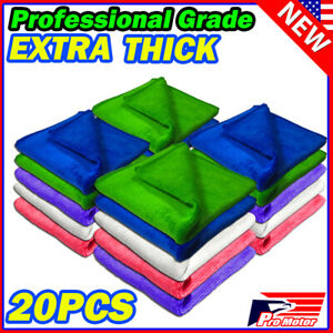 Extra Thick Microfiber Plush Towel Cleaning No scratch Rag Polishing Detailing P