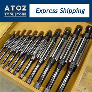 11 Pieces Adjustable Hand Reamer Set H4 h14 A k 15 32 To 1 1 2 New