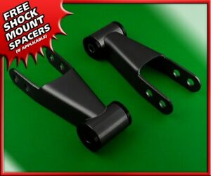 Shackles Pair For 1998 2012 Ford Ranger Xl Xlt Edge Rear 2 Level Kit 2wd 4wd