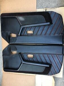 Porsche 944 Turbo S2 Leather Speaker Door Panels With Red Stitching