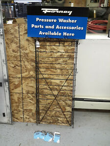 Retail Display Universal Magazine Pegboard Hook Rack Forney Pressure Washer