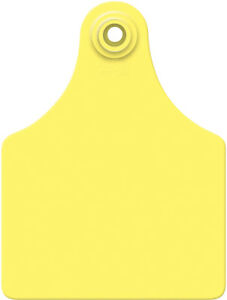 Allflex Global Ear Tags Maxi 4 X 3 With Buttons Yellow Blank 25ct Package