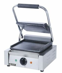Commercial Kitchen Countertop Single Flat Panini Sandwich Grill 12