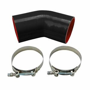 89mm 3 5 Inch 45 Degree Elbow Silicone Hose Turbo Intake Intercooler Pipe clamp