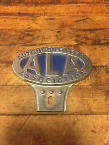 Vintage Ala Automobile Legal Association License Plate Topper Accessory