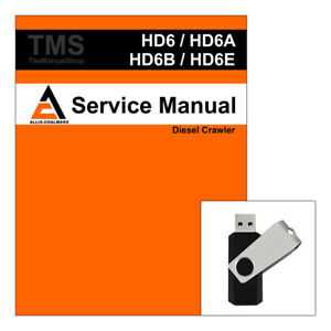 Allis Chalmers Agco Ac Hd6 Hd6a Hd6b Hd6e Service Repair Manual Sn 0 13322