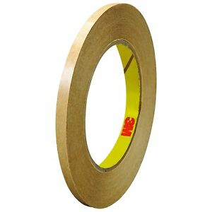 465 Adhesive Transfer Tape 465 Clear 1 4 In X 60 Yd 2 0 Mil pack Of 6