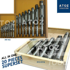 20 Pieces Adjustable Hand Reamers Reamer Set 1 4 To 2 7 32 Hv H16 Atoz