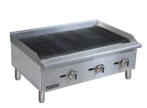 Commercial Kitchen Countertop Natural Gas Char broiler 36