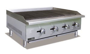Commercial Kitchen Countertop Natural Gas Char broiler 48