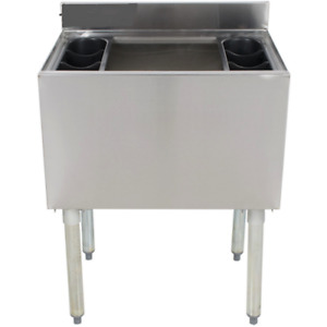 Stainless Steel Insulated Underbar Ice Bin 24 X 12 Deep With 7 Circuit Cold