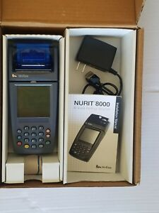 Verifone Nurit 8000 Credit Card Machine With Accessories Free Shipping Used 18