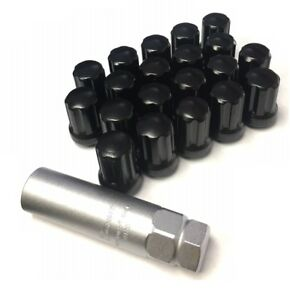 Mr Lug Nuts Black 14x1 5 Spline Drive Tuner Lug Nut Kit 20 Piece W Key Set