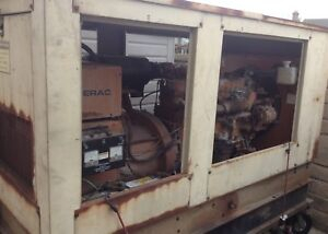 Used 1998 50kw Generac Stand by Generator Very Low Hours Sale As Is