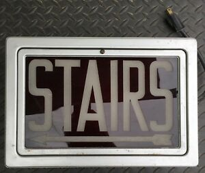 Metal Cased Stairs Exit Sign Light Union Made