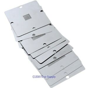 11x Game Consoles Chips Repair Stencils 90x90mm For Ps3 Xbox360 Wii Bga Set