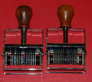 Numbering Stamp Machine lot Of Two