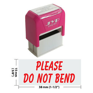 Please Do Not Bend Jyp 4911r Self Inking Rubber Stamp red Ink