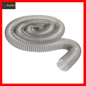 4 x 10ft Pvc Dust Collector Hose Heavy Duty Wrapped Steel Wire Woodworking Clear
