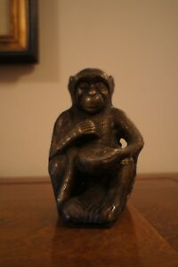 19th Century Or Earlier German Bronze Figure Of A Monkey