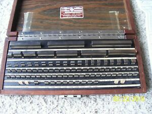 Starrett Webber Metric 88 Pc Steel Gage Block Set Calibration Report R2s88ma