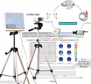 Eeg Machine Contec Kt88 2400 Digital 24 channel Eeg And Mapping System 2 Tripods