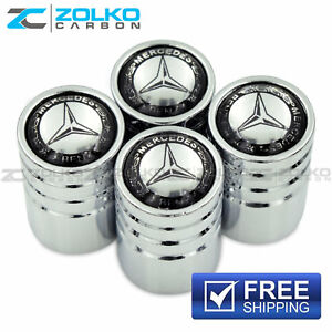 Valve Stem Caps Wheel Tire Chrome For Mercedes Benz Us Seller Ve02