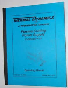 Thermal Dynamics Cutmaster 51 Plasma Cutter Power Supply Operating Manual 0 2971