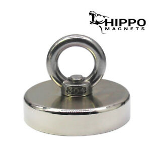 500 Lbs Pull Force Strong Neodymium Round Hippo Fishing Magnet Treasure Hunt