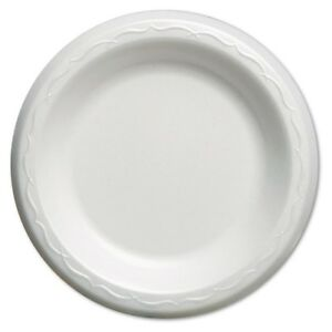 Elite Laminated Foam Plates 6 Inches White Round 125 pack 8 Pack carton