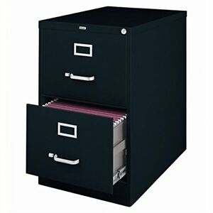 Modern Espresso File Cabinet Storage Lateral Letter For Home Office 2 Drawers