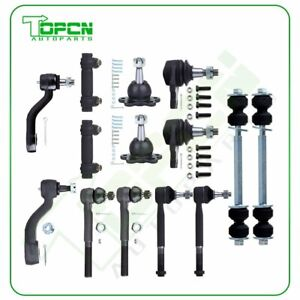 For 1993 1999 Chevy K1500 Suburban 4wd 14pcs Front Ball Joints Tie Rods Kit