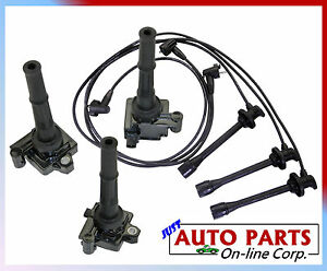 Spark Plug Wires 3 Ignition Coils Toyota 4runner 96 02 V6 3 4l Tundra 00 2004