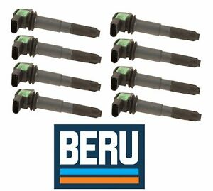 Porsche 955 Cayenne 8x Ignition Coil With Spark Plug Connector Oem Beru New