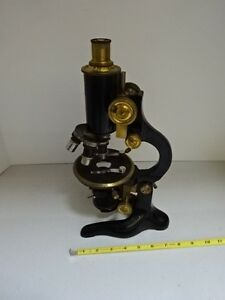 Microscope Vintage R Fuess Berlin Antique Brass Germany Optics As Is tb 4
