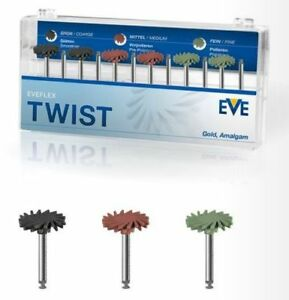 Dental Eve Eveflex Twist Ra Discs For Polishing Gold And Amalgam Ra240 12