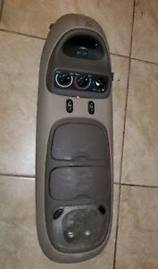 97 98 99 00 01 02 Oem Expedition Tan Center Over Head Storage Console Navigator